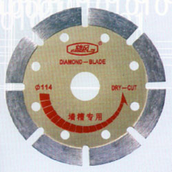 Wall slotted blades